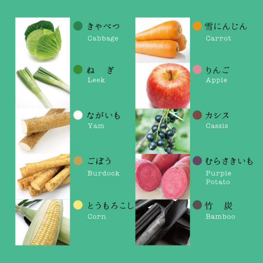 Mizuiro Vegetable Crayons