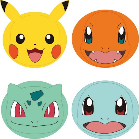 Japan Trend Shop Pokemon Face Packs Pack Of Four