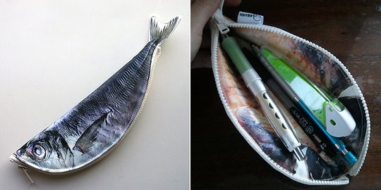 Japan trend shop ajina tasty fish pencil case for Fish pencil case