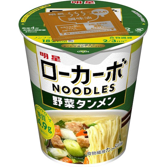 Myojo Low-Carb Instant Noodles Vegetable Tanmen (Pack of 12)