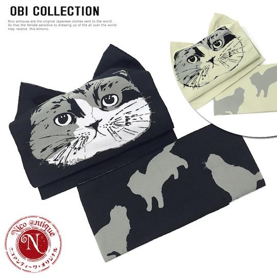Cat Kimono Obi Belt