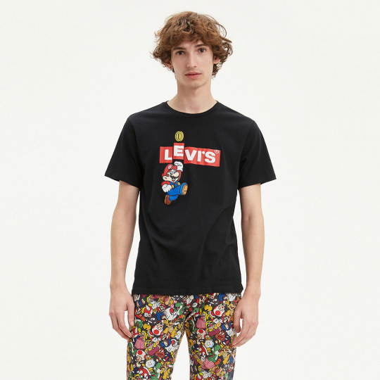 Levis X Super Mario Box Tab Bing T-Shirt