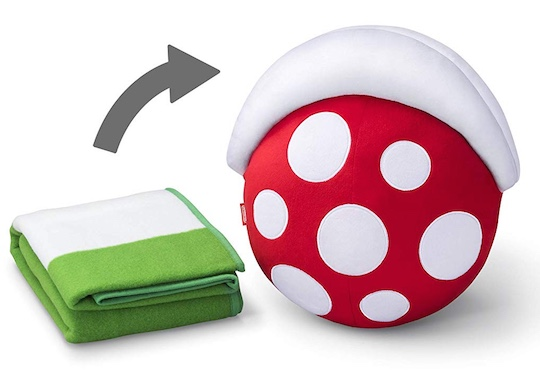 Mario Piranha Plant Cushion & Warp Pipe Mini Blanket