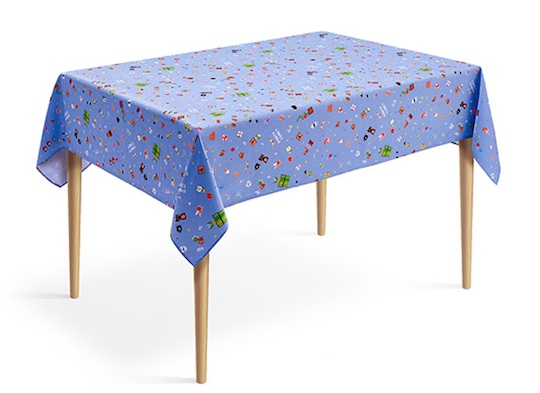 Super Mario 8-bit Video Game Design Tablecloth