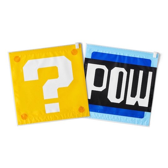 Super Mario Question Mark POW Block Vacuum Clothes Storage Bag