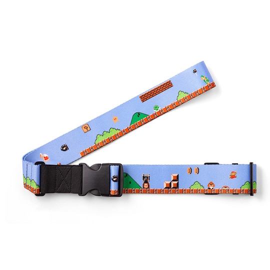 Super Mario Suitcase Belt Strap Ground Level Theme