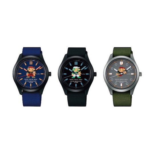Seiko Alba Super Mario Watch Active Mario and Luigi