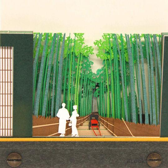 Omoshiroi Block Scenery Kyoto Summer Bamboo Grove Memo Pad