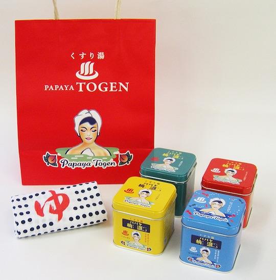 Papaya Togen Bath Salts Special Set (Pack of 4)