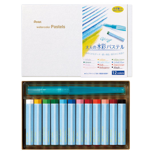 Pentel Vistage Watercolor Pastels 24 Colors