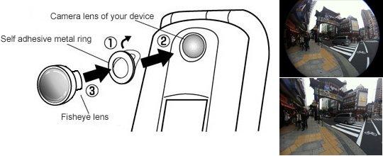 Pixeet Fisheye Lens for iPhone 3G, 4