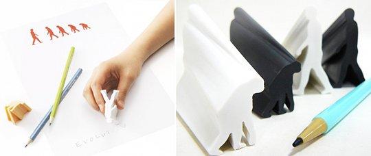 The Evolution Eraser Japanese stationery Black