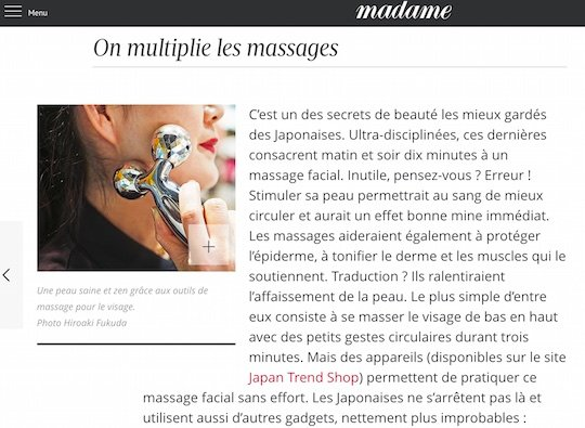 face body massager beauty figaro madame