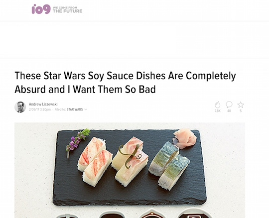 gizmodo star wars soy sauce dish set