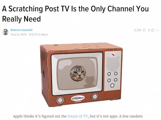 gizmodo toyland cat tv