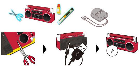 Japan trend shop retro papercraft speakers retro papercraft speakers altavistaventures Choice Image