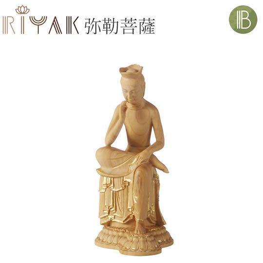 Maitreya Miroku Bosatsu Buddha Wooden Statue