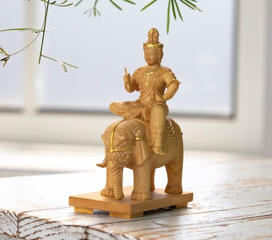 Taishakuten Sakra Buddhist Deity Wooden Statue