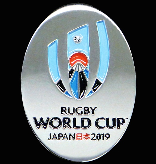 Rugby World Cup 2019 Japan Official 925 Silver Pin Brooch