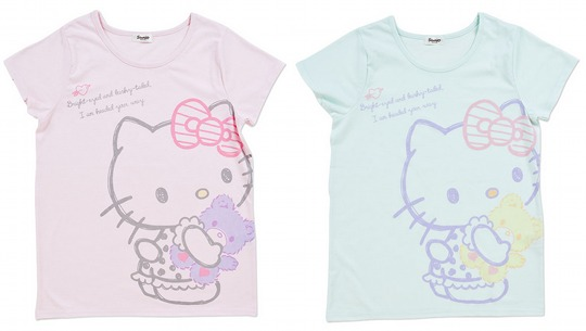 Japan trend shop hello kitty t shirt teddy bear for Hello kitty t shirt design