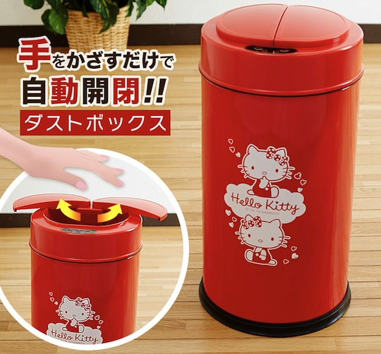 Hello Kitty Touchless Sensor Automatic Trash Can Japan