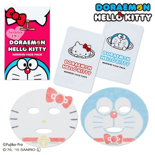 Doraemon and Hello Kitty Narikiri Face Packs