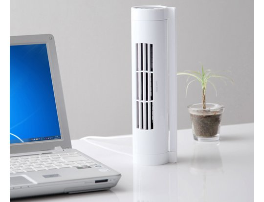 Sanwa Blade-Less Horizontal Desk Fan