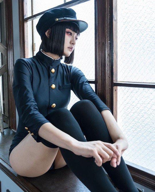 Gakuran Swimsuit Japanese Schoolboy Coat Cosplay Costume