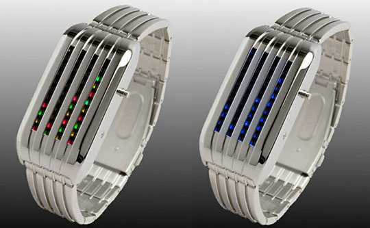 Barcode LED Watch