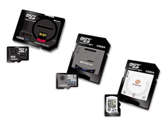 Sega Classic Console Design MicroSDHC Memory Card