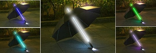 Rainbow Flash LED Light-Up Umbrella