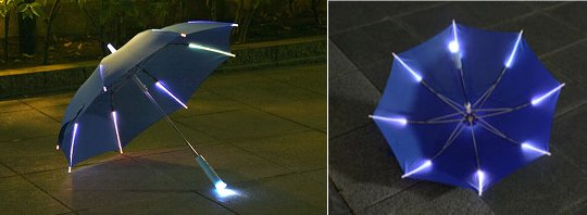 Rainbow Flash LED Childrens Light-Up Umbrella