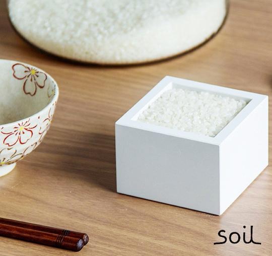 Diatomaceous Earth Masu Natural Humidity Control Rice Box