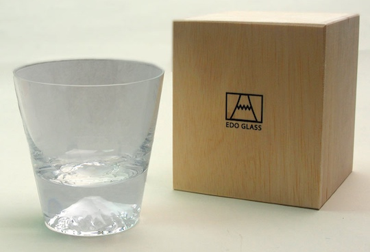 Edo Glass Mt Fuji Lowball Tumbler