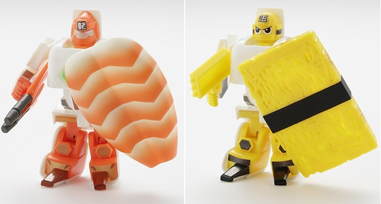 Sushi Transformers Sentai Squadron Schallyders Syrariders Set
