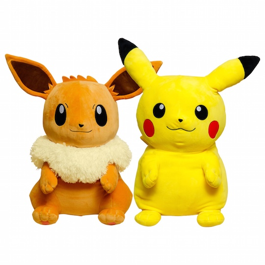 Big and Soft Hugging Pikachu and Eevee Pillows