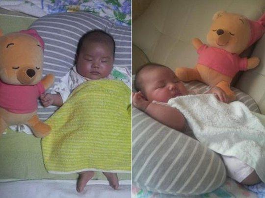 Issho ni Nenne Disney Baby Winnie the Pooh Womb Doll