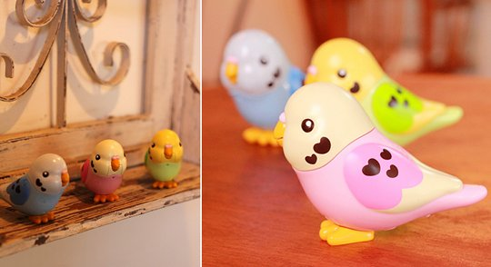 Takara-Tomy Manekko Pi-chan Talking Bird All Color Set