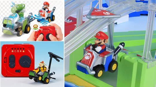 Japan Trend Shop Mario Kart 7 Choro Q Racing Game Set