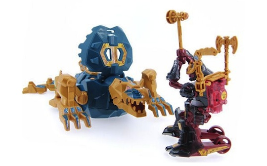 Samurai Borg Premium Box Robot Warrior Dragon Set