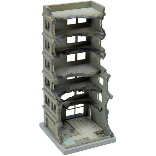 Tomytec Diocolle Combat Series Diorama DCM02 Destroyed Building