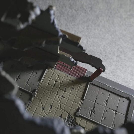 Tomytec Diocolle Combat Series Diorama DCM03 Destroyed Building