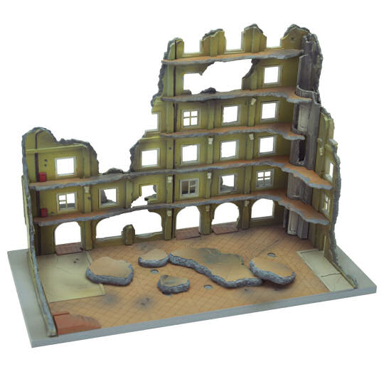 Tomytec Diocolle Combat Series Diorama DCM04 Destroyed Hotel