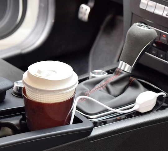 USB-powered Paper Cup Warmer by Thanko