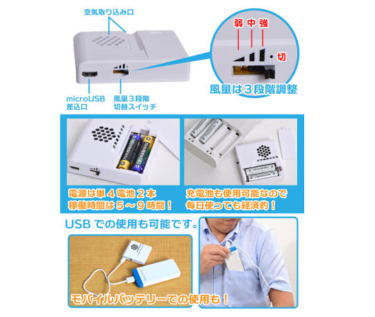 Thanko Electric Armpit Clip-on Cooler Fan
