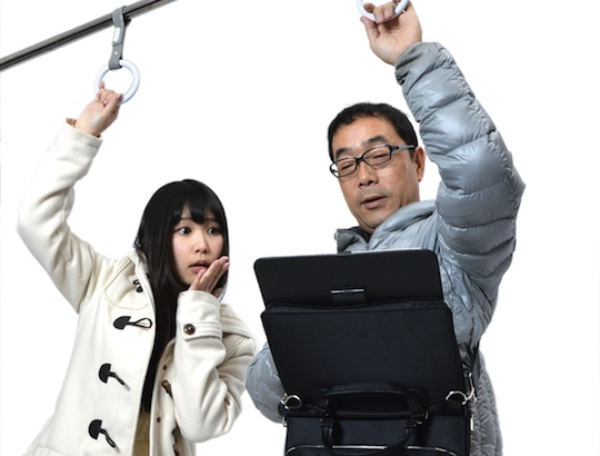 $50 In Pounds >> Japan Trend Shop | Hands-Free Tablet Holder for Standing Train Commuters