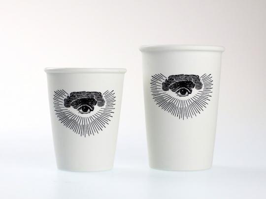 Freemason Eye of Providence Hasami Porcelain Coffee Tumbler