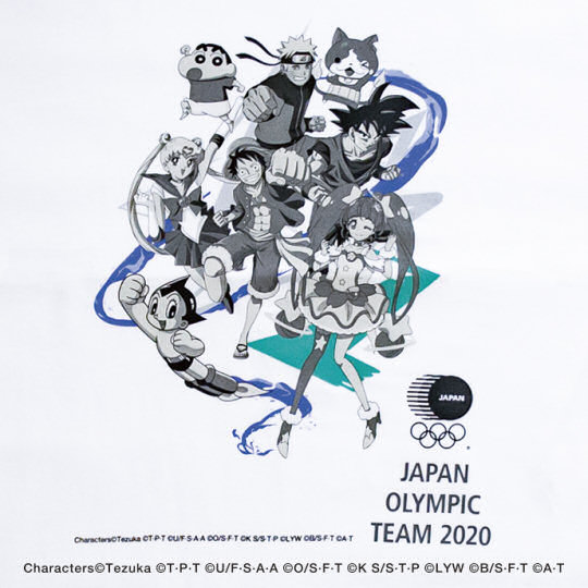 Japanese Olympic Committee Anime Superstars Team T-shirt
