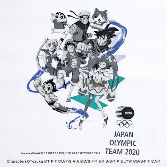 Japanese Olympic Committee Anime Superstars Team T-shirt