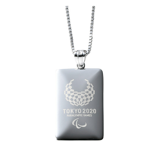 Tokyo 2020 Olympics and Paralympics Official Silver Pendant